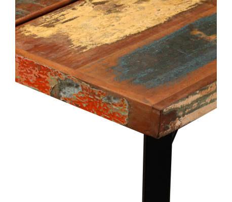 vidaXL 9-dielna barová súprava, masívne recyklované drevo a pravá koža[7/15]