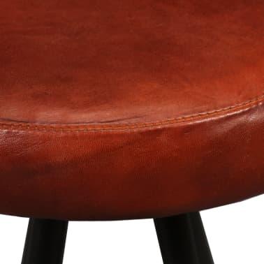 vidaXL 9-dielna barová súprava, masívne recyklované drevo a pravá koža[13/15]