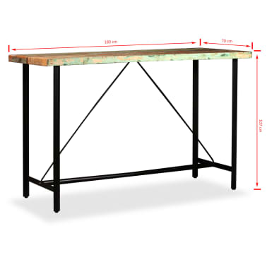 vidaXL Bar Set 9 Pieces Solid Reclaimed Wood[15/16]