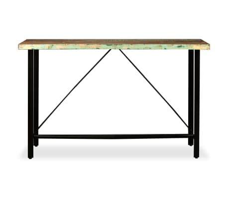 vidaXL Bar Set 9 Pieces Solid Reclaimed Wood, Genuine Leather & Canvas[3/16]