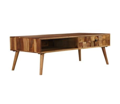 vidaXL Coffee Table Solid Sheesham Wood with Honey Finish 110x50x37 cm