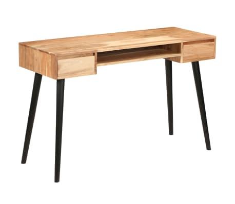 vidaXL Rašomasis stalas, akacijos medienos masyvas, 118x45x76cm[1/17]