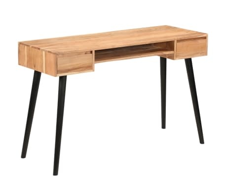 vidaXL Rašomasis stalas, akacijos medienos masyvas, 118x45x76cm[14/17]