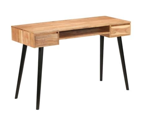 vidaXL Rašomasis stalas, akacijos medienos masyvas, 118x45x76cm[15/17]
