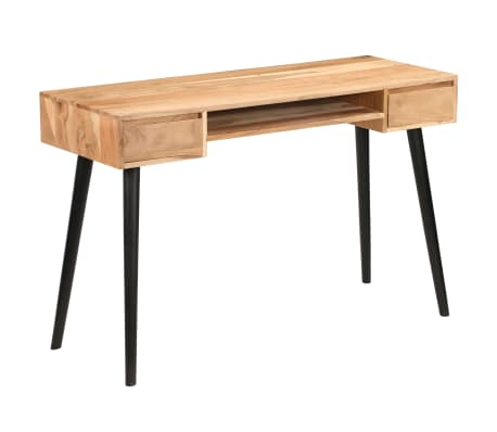 vidaXL Rašomasis stalas, akacijos medienos masyvas, 118x45x76cm[16/17]