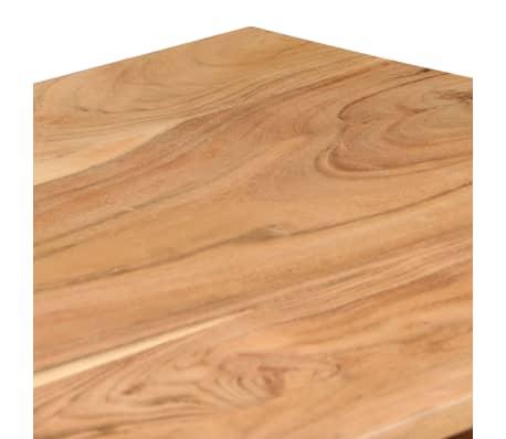 vidaXL Rašomasis stalas, akacijos medienos masyvas, 118x45x76cm[5/17]