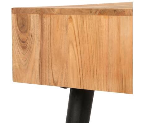 vidaXL Rašomasis stalas, akacijos medienos masyvas, 118x45x76cm[8/17]