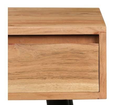 vidaXL Rašomasis stalas, akacijos medienos masyvas, 118x45x76cm[10/17]
