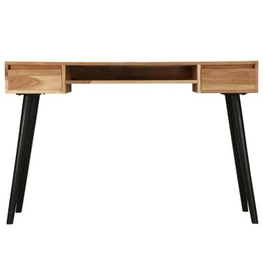 vidaXL Rašomasis stalas, akacijos medienos masyvas, 118x45x76cm[2/17]