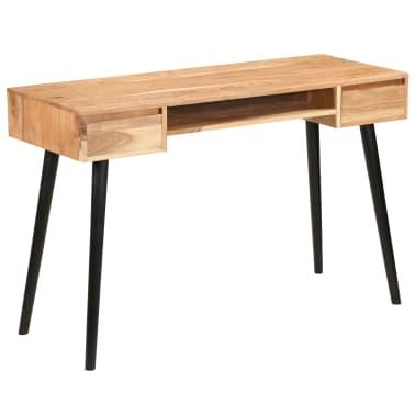 vidaXL Rašomasis stalas, akacijos medienos masyvas, 118x45x76cm[17/17]