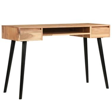 vidaXL Rašomasis stalas, akacijos medienos masyvas, 118x45x76cm[3/17]