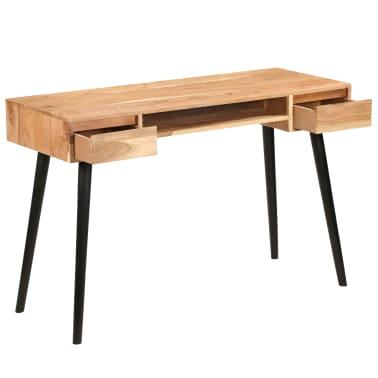 vidaXL Rašomasis stalas, akacijos medienos masyvas, 118x45x76cm[4/17]