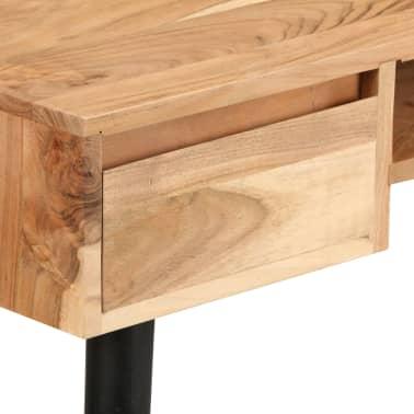 vidaXL Rašomasis stalas, akacijos medienos masyvas, 118x45x76cm[7/17]