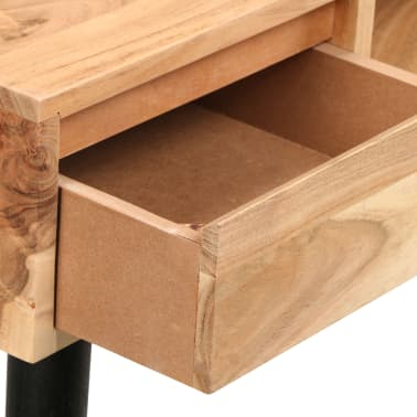 vidaXL Rašomasis stalas, akacijos medienos masyvas, 118x45x76cm[9/17]