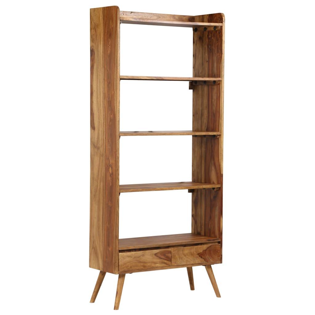 vidaXL Regał z litego drewna sheesham, 75 x 30 x 170 cm