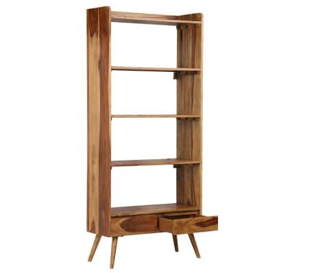 vidaXL Bibliothèque Bois massif de Sesham 75 x 30 x 170 cm[4/16]
