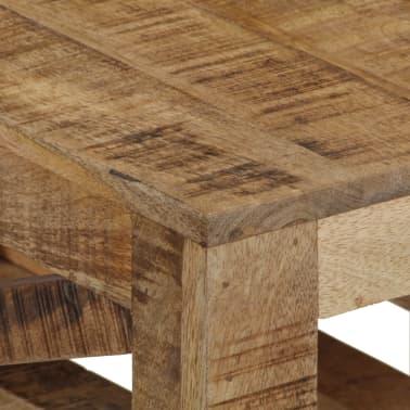 vidaXL Salontafel op wieltjes 110x50x37 cm massief mangohout[6/13]