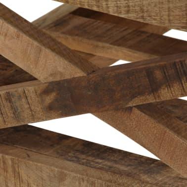 vidaXL Salontafel op wieltjes 110x50x37 cm massief mangohout[7/13]