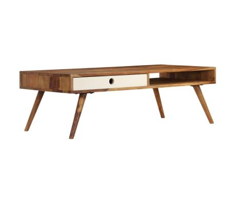 vidaXL Kavos staliukas, 110x50x35cm, rausvosios dalbergijos med. mas.[1/14]