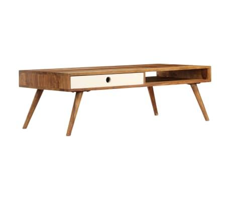 vidaXL Kavos staliukas, 110x50x35cm, rausvosios dalbergijos med. mas.[11/14]