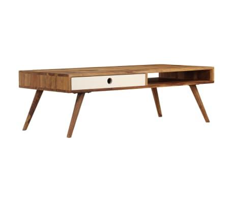 vidaXL Kavos staliukas, 110x50x35cm, rausvosios dalbergijos med. mas.[13/14]
