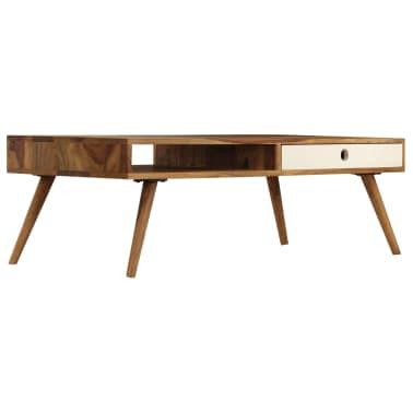 vidaXL Kavos staliukas, 110x50x35cm, rausvosios dalbergijos med. mas.[2/14]
