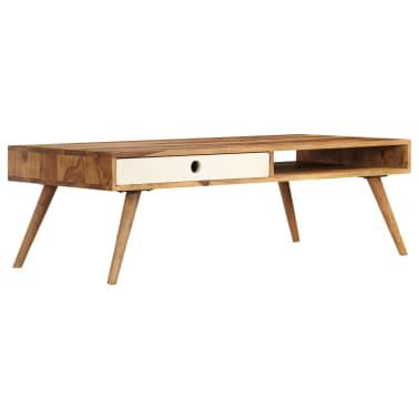 vidaXL Kavos staliukas, 110x50x35cm, rausvosios dalbergijos med. mas.[12/14]
