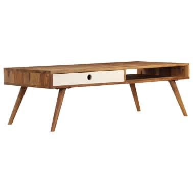 vidaXL Kavos staliukas, 110x50x35cm, rausvosios dalbergijos med. mas.[14/14]