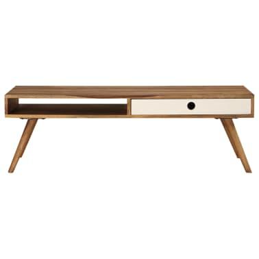 vidaXL Kavos staliukas, 110x50x35cm, rausvosios dalbergijos med. mas.[3/14]