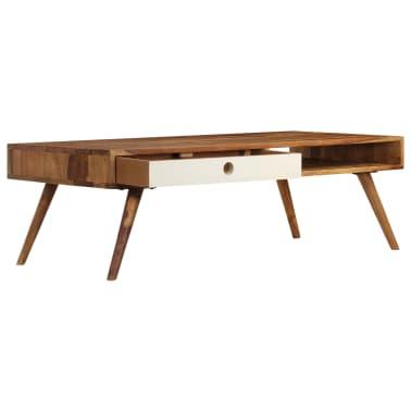 vidaXL Kavos staliukas, 110x50x35cm, rausvosios dalbergijos med. mas.[5/14]