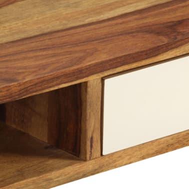 vidaXL Kavos staliukas, 110x50x35cm, rausvosios dalbergijos med. mas.[8/14]