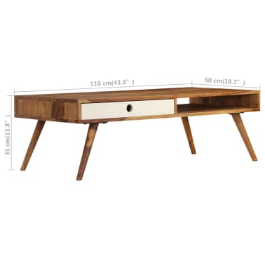 vidaXL Kavos staliukas, 110x50x35cm, rausvosios dalbergijos med. mas.[10/14]