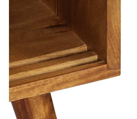 vidaXL Šoninė spintelė, 118x30x66cm, rausv. dalb. medienos masyvas[8/15]