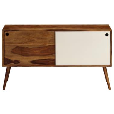 vidaXL Šoninė spintelė, 118x30x66cm, rausv. dalb. medienos masyvas[2/15]