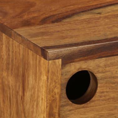 vidaXL Šoninė spintelė, 118x30x66cm, rausv. dalb. medienos masyvas[6/15]