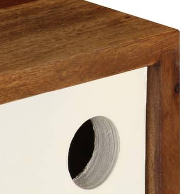 vidaXL Šoninė spintelė, 118x30x66cm, rausv. dalb. medienos masyvas[7/15]