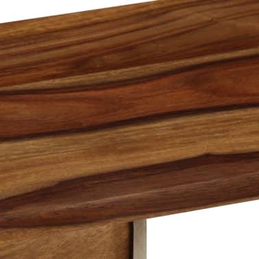 vidaXL Šoninė spintelė, 118x30x66cm, rausv. dalb. medienos masyvas[9/15]
