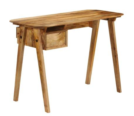 vidaXL Psací stůl 110 x 50 x 76 cm masivní mangovníkové dřevo