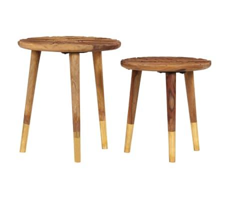 vidaXL Konferenční stolky 2 ks masivní sheeshamové dřevo[2/13]
