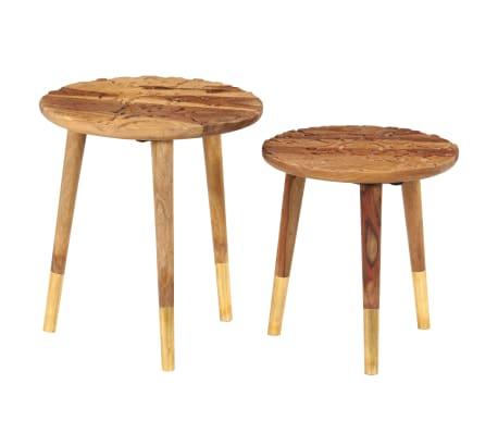 vidaXL Konferenční stolky 2 ks masivní sheeshamové dřevo[13/13]