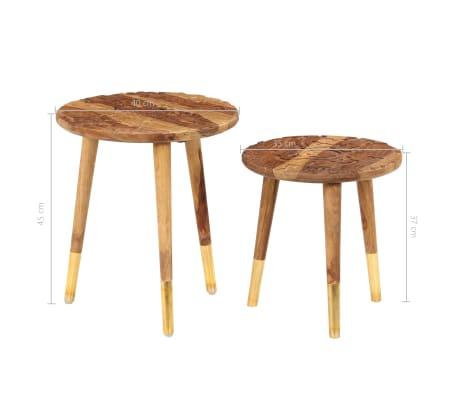 vidaXL Konferenční stolky 2 ks masivní sheeshamové dřevo[8/13]
