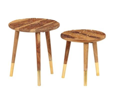 vidaXL Konferenční stolky 2 ks masivní sheeshamové dřevo[10/13]