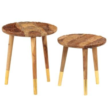 vidaXL Konferenční stolky 2 ks masivní sheeshamové dřevo[11/13]