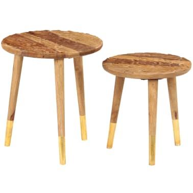 vidaXL Konferenční stolky 2 ks masivní sheeshamové dřevo[12/13]