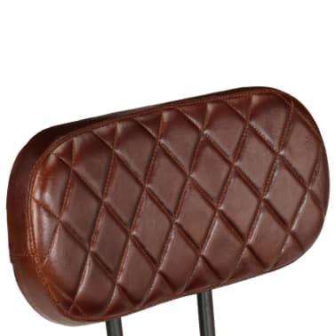 acheter vidaxl chaise de salle manger 4 pcs cuir v ritable marron pas cher. Black Bedroom Furniture Sets. Home Design Ideas