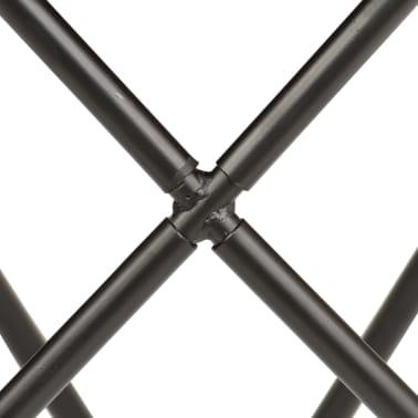 vidaXL Butterfly Stool Black Real Leather[7/8]