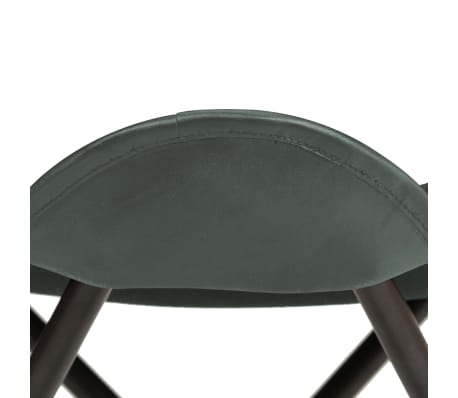 vidaXL Butterfly Stool Grey Real Leather[4/8]