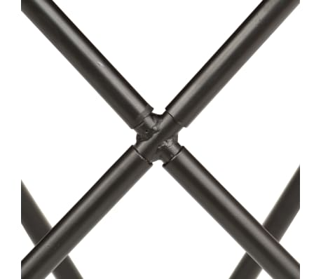 vidaXL Butterfly Stool Grey Real Leather[7/8]