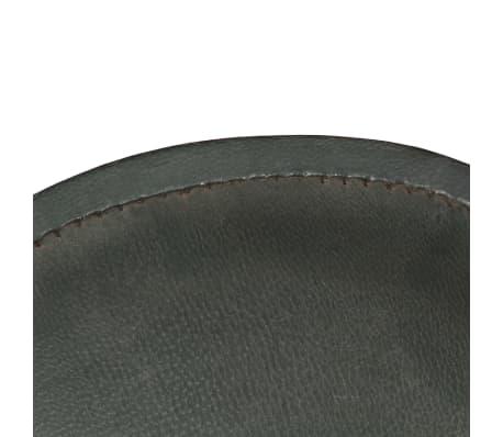 vidaXL Išskleidžiama kėdė, pilka, tikra oda[6/14]