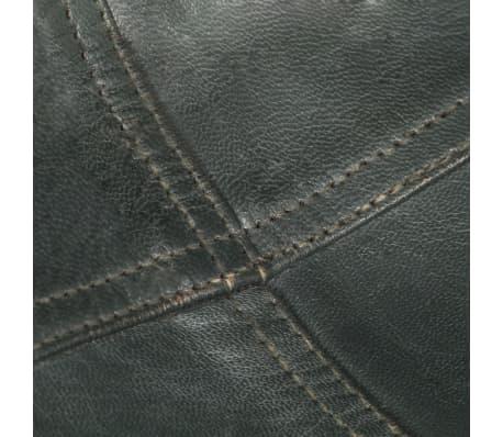 vidaXL Išskleidžiama kėdė, pilka, tikra oda[8/14]
